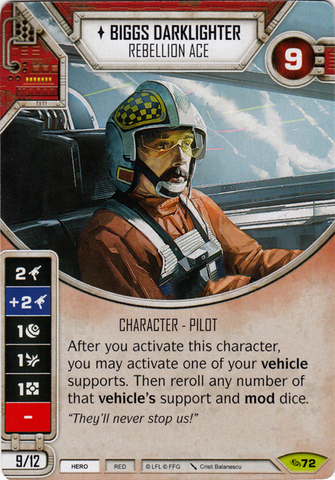 Biggs Darklighter- Rebellion Ace