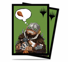 Ultra PRO - MTG Chibi Collection Garruk I'm Starving 100 Count Standard Sleeves (86910)