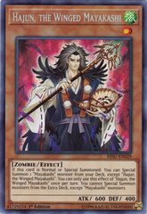 Hajun, the Winged Mayakashi - HISU-EN029 - Secret Rare - 1st Edition