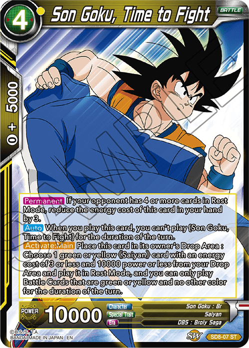 Son Goku, Time to Fight - SD8-07 - ST