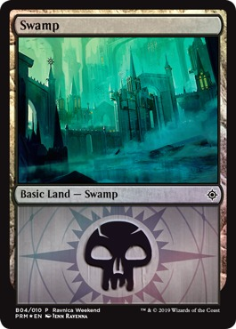 Swamp (B04/010) - Foil Ravnica Weekend Promo
