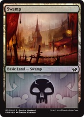 Swamp (B05/010) - Foil Ravnica Weekend Promo