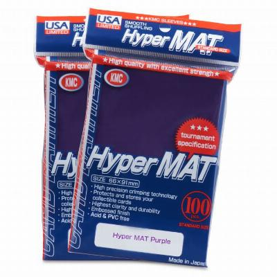 KMC Hyper Matte Purple Sleeves (100ct)