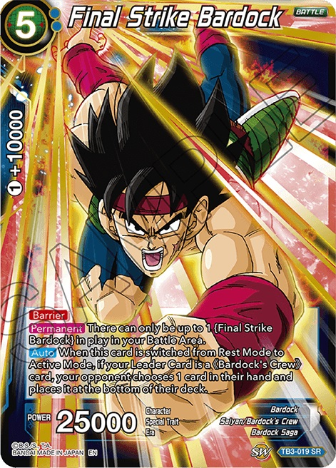 Final Strike Bardock - TB3-019 - SR