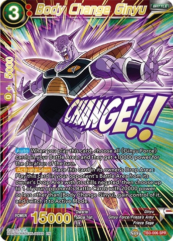 Body Change Ginyu - TB3-006 - SPR