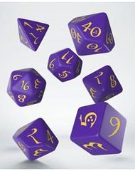 Classic RPG Dice Set purple & yellow (7)
