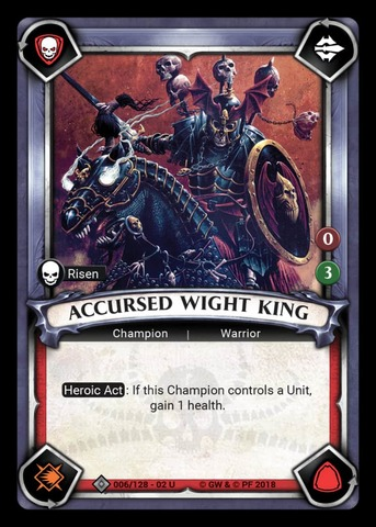 Accursed Wight King (Unclaimed) - Foil