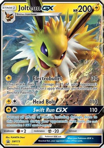 Jolteon GX - SM173 - SM Black Star Promo