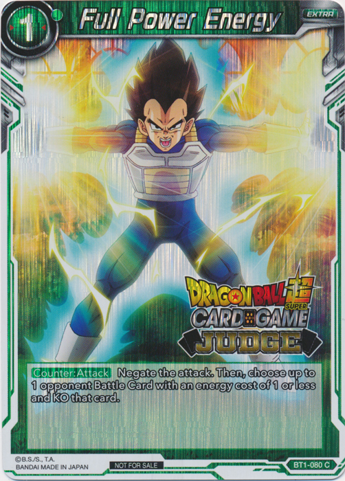 Full Power Energy (Judge Promo) -  BT1-080 - PR