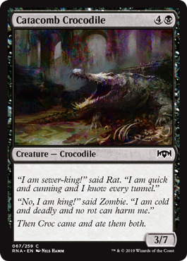 Catacomb Crocodile - Foil