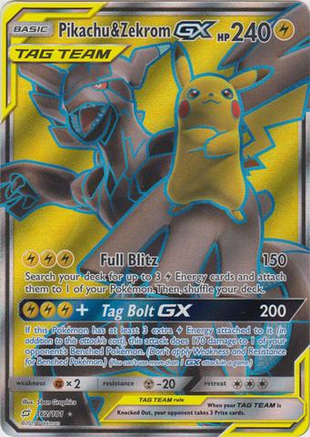 Pikachu & Zekrom GX - 162/181 - Full Art Ultra Rare