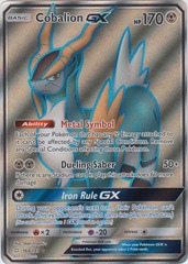 Cobalion GX - 168/181 - Full Art Ultra Rare