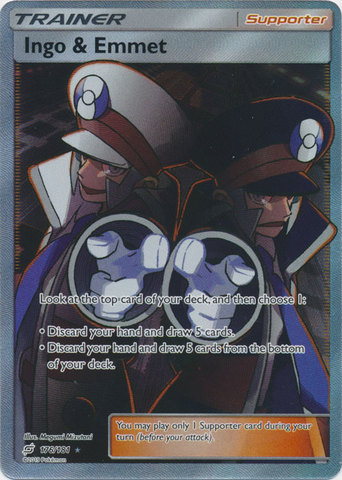 Ingo & Emmet - 176/181 - Full Art Ultra Rare