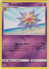 Starmie - 65/181 - Rare - Reverse Holo on Channel Fireball