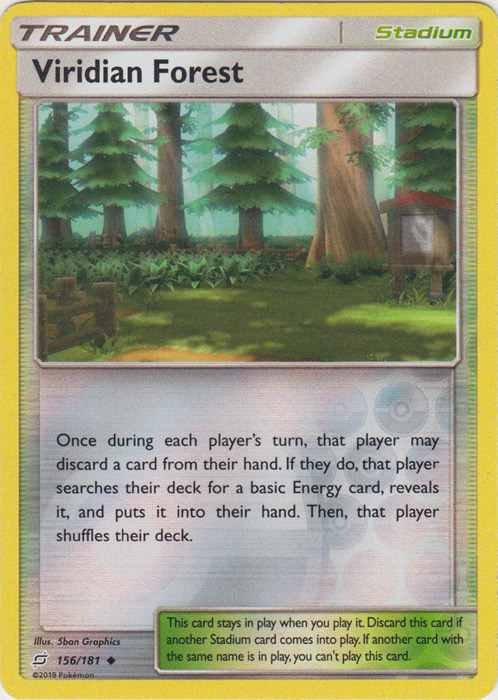 Viridian Forest - 156/181 - Uncommon - Reverse Holo