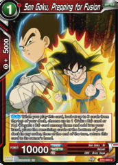 Son Goku, Prepping for Fusion - BT6-005 - C - Foil