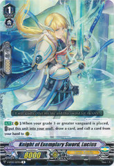 Knight of Exemplary Sword, Lucius - V-BT03/027EN - R on Channel Fireball