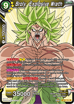 Broly, Explosive Wrath - P-106 - PR (Broly Pack Vol. 2)