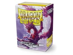 Dragon Shield Sleeves: Matte Clear Purple (Box Of 100)