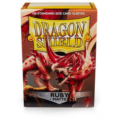 Dragon Shield - Matte Ruby 100 Count Standard Sleeves