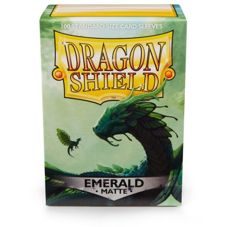 Dragon Shield Sleeves: Matte Emerald (Box Of 100)