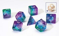 Dice Set - Blue Aurora