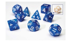 Dice Set - Blue Pearl