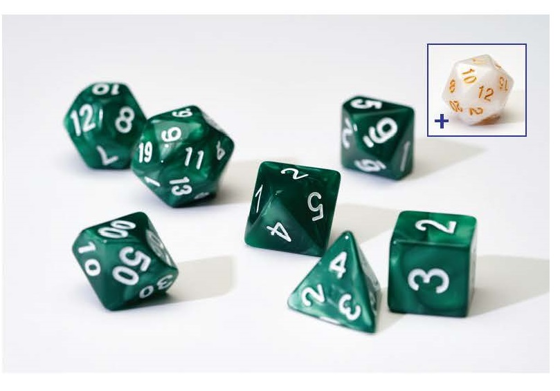 Dice Set - Pearl Green