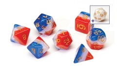 Dice Set - Red White & Blue