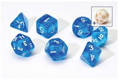 0107 Dice Set - Blue Translucent