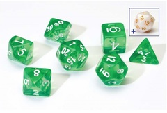 0106 Dice Set - Green Translucent