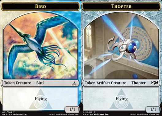 Bird Token (001) // Thopter Token (011)
