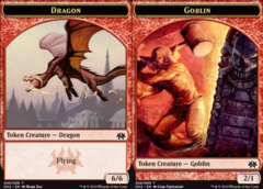 Dragon Token (005) // Goblin Token (006)