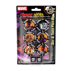 Marvel HeroClix: Avengers Black Panther and the Illuminati Dice & Token Pack
