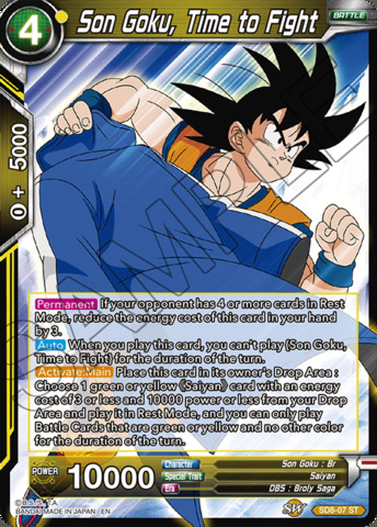 Son Goku, Time to Fight - SD8-07 - ST - Parallel Foil