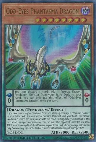 Odd-Eyes Phantasma Dragon - YA05-EN001 - Ultra Rare - Limited Edition
