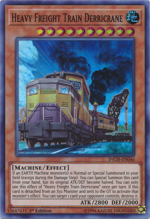 Heavy Freight Train Derricrane - INCH-EN046 - Super Rare - 1st Edition