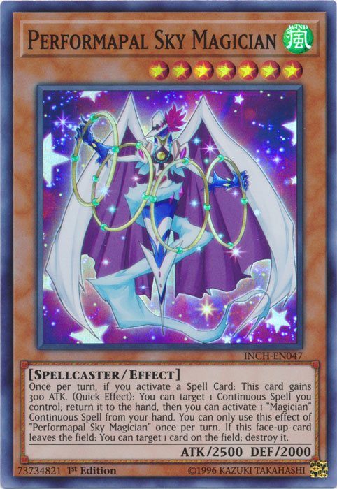 Marshalling Field INCH-EN045 Super Rare Yu-Gi-Oh Card 1st Edition New