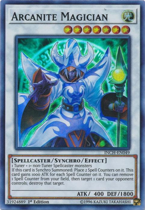 Arcanite Magician - INCH-EN049 - Super Rare - 1st Edition