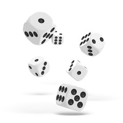 Oakie Doakie Dice - D6 Solid White 16mm Set of 12 (ODD410028)