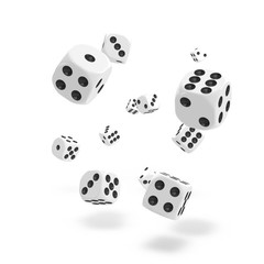 Oakie Doakie Dice - D6 Solid White 12mm Set of 36 (ODD400028)