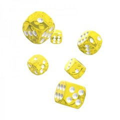 Oakie Doakie Dice - D6 Translucent Yellow 16mm Set of 12 (ODD410012)