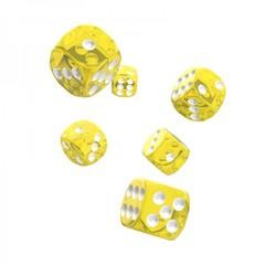 Oakie Doakie Dice - D6 Translucent Yellow 16mm Set of 12