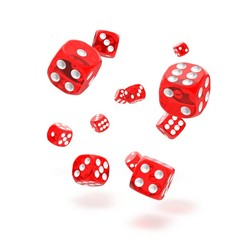 Oakie Doakie Dice - D6 Translucent Red 12mm Set of 36
