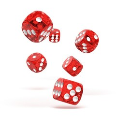 Oakie Doakie Dice - D6 Speckled Red 16mm Set of 12