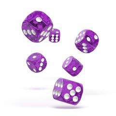Oakie Doakie Dice - D6 Speckled Purple 16mm Set of 12