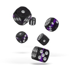 Oakie Doakie Dice - D6 Enclave Amethyst 16mm Set of 12
