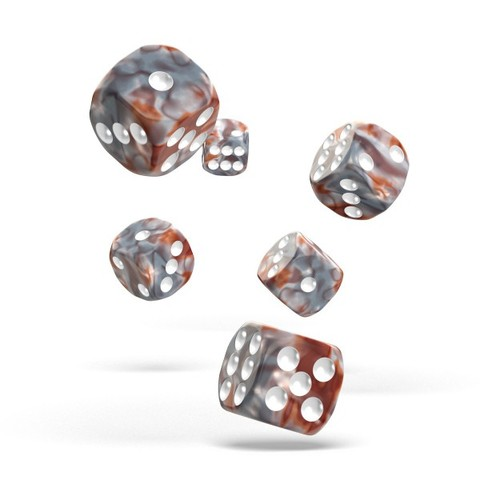 Oakie Doakie Dice - D6 Gemidice Silver-Rust 16mm Set of 12 (ODD410032)