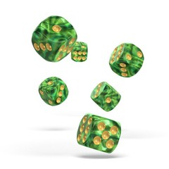 Oakie Doakie Dice - D6 Gemidice Jungle 16mm Set of 12