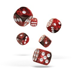 Oakie Doakie Dice - D6 Gemidice Vampire 16mm Set of 12